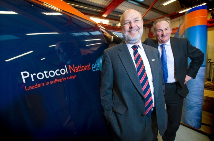 Protocol National Chief Executive Phillip Harrison with BLOODHOUNDSSC Project Director Richard Noble.