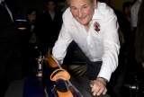 Richard Noble with a model of BLOODHOUND SSC.